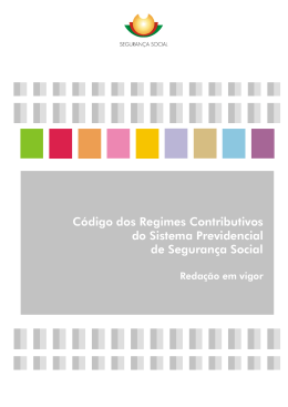 Código do regime contributivo