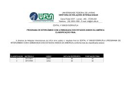 Classificação Final Entrevistas - Diretoria de Relações Internacionais