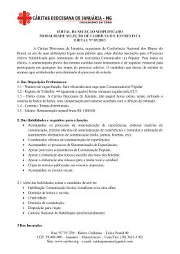 """Rua """"E"""" Nº 230 – Bairro Cerâmica – Caixa Postal 49 CEP: 39.480"""