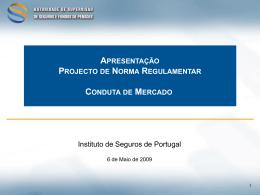 Apresentação do Projecto de Norma em formato pdf
