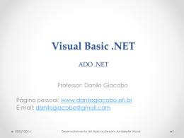 Visual Basic .NET - Danilo Giacobo