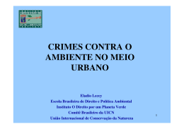 Crimes Ambientais no Meio Urbano