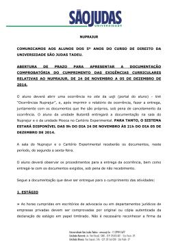 COMUNICADO 5º ano - 2 semestre - 2014 _3_. 24.11 a 05 dezembro