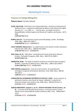 VIII CADERNO TEMÁTICO Marketing & Turismo - Biblioteca