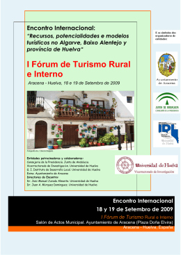 I Fórum de Turismo Rural e Interno