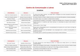 Centro de Comunicação e Letras