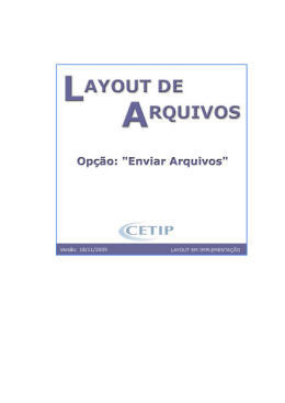 Descrio do layout do arquivo Termo de Moedas