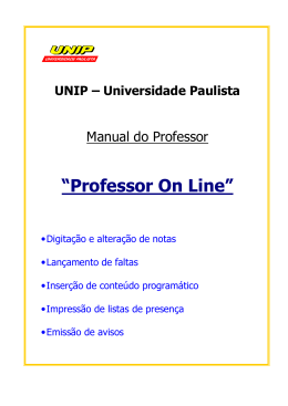 Manual Professor On-Line - Coordenação Professor Ly