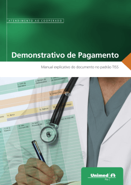 MANUAL EXPLICATIVO DEMONSTRATIVO DE - Unimed-Rio