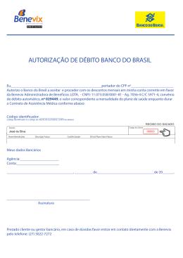 PDF: Carta de solicitação de débito automátido do plano