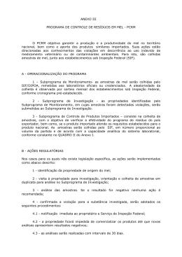ANEXO III PROGRAMA DE CONTROLE DE RESÍDUOS EM