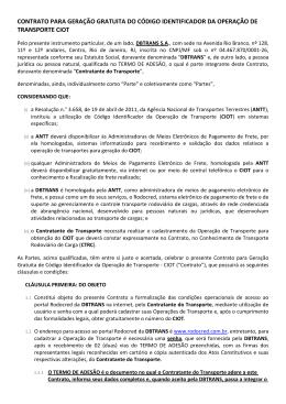 termos e condições de uso do Portal Rodocred para Declaração de