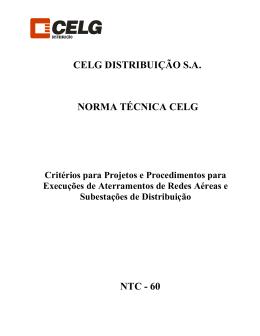 Critério para Projetos e Procedimento para Execuções de