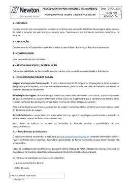 Manual de Procedimento para Viagem e Treinamento Rev 06