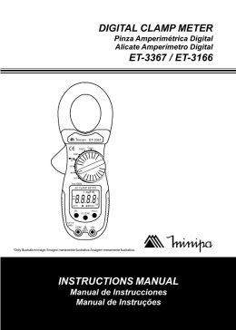 DIGITAL CLAMP METER INSTRUCTIONS MANUAL ET