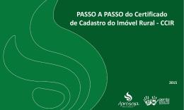 PASSO A PASSO do Certificado de Cadastro do Imóvel