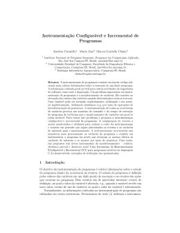Instrumentação configurável e incremental de programas