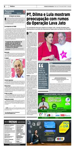 PT, Dilma e Lula mostram preocupação com rumos