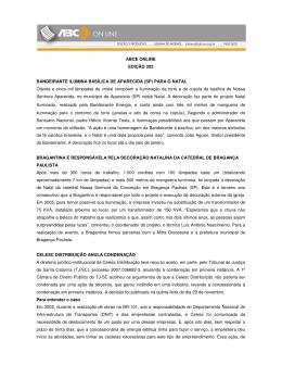 ABCE ONLINE EDIÇÃO 202 BANDEIRANTE ILUMINA BASÍLICA