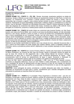 OAB/SP EXAME 110 – PONTO 1 - LFG – Exames OAB, Concursos
