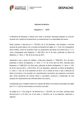 DESPACHO - Direção-Geral da Educação