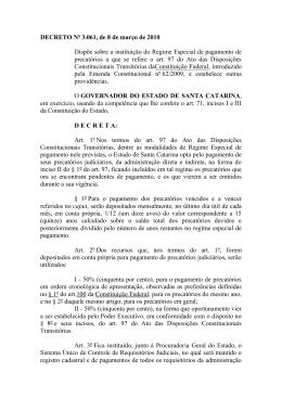Decreto N. 3.061, de 08 de março de 2010
