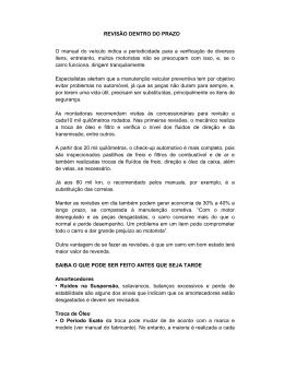 REVISÃO DENTRO DO PRAZO O manual do veículo