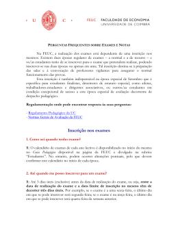 Sobre exames - Universidade de Coimbra