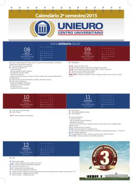 Calendário 2º semestre/2015