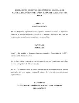 Norma Emprestimo Bibliografia - UNESP: Câmpus de São João da