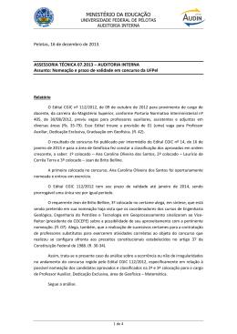 Nº 07/2013 – Concurso da UFPel