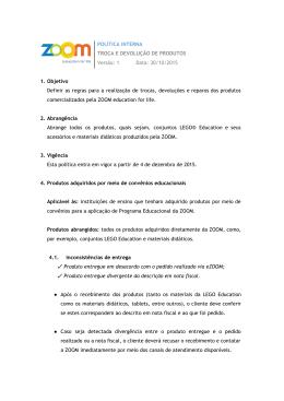 POLÍTICA INTERNA TROCA E DEVOLUÇÃO DE