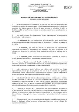 ESTÁGIOS SUPERVISIONADOS - Esalq