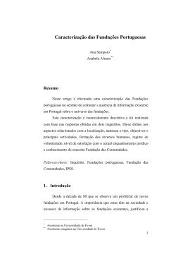 Caracterizacao das Fndacoes Portuguesas