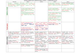 DEPARTAMENTO DE COMUNICAÇÕES E ARTES - CCA ECA-USP