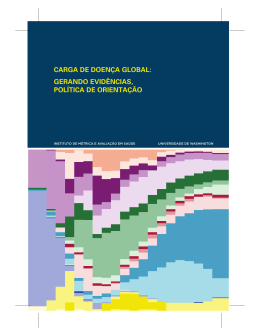 carga de doença global - Institute for Health Metrics and Evaluation