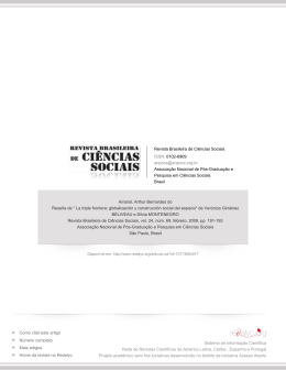 """Reseña de"""" La triple frontera: globalización y construcción social del"""
