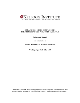Situaciones - Kellogg Institute for International Studies