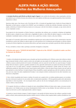 BRASIL Direitos das Mulheres Ameaçados