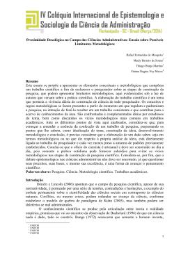 Proximidade Doxológica no Campo das Ciências Administrativas