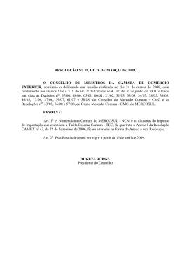 Resolução CAMEX 18 de 2009