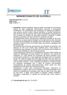 MONOESTEARATO DE GLICERILA
