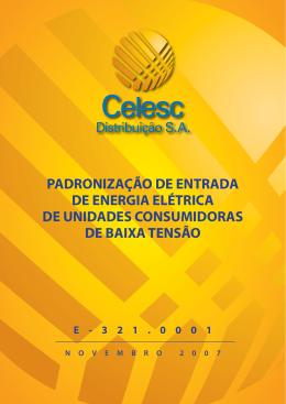 PADRONIZAÇÃO DE ENTRADA DE ENERGIA ELÉTRICA