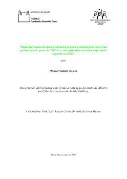"""""""Implementação de uma metodologia para - Arca"""