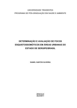 determinação e avaliação de focos esquistossomóticos em áreas