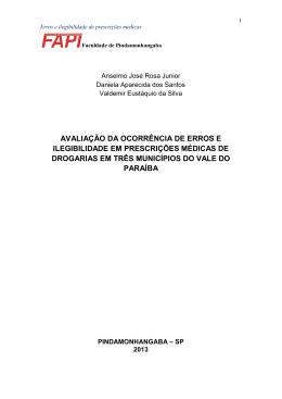 avaliação da ocorrência de erros e ilegibilidade em prescrições