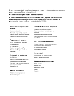 Características principais da Plataforma:
