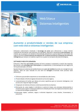 Apresentação Web Sites e Sistemas Inteligentes em PDF