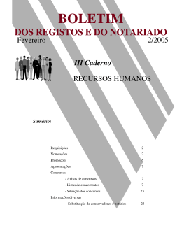III Caderno - Instituto dos Registos e Notariado