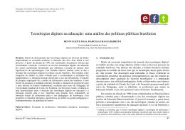 Tecnologias digitais na educação: uma análise das políticas